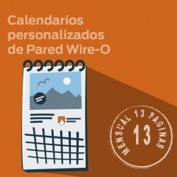Calendarios personalizados de pared MENSUAL WIRE-O