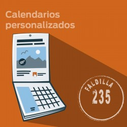 Calendarios BIMENSUAL. Faldilla 235 mm.